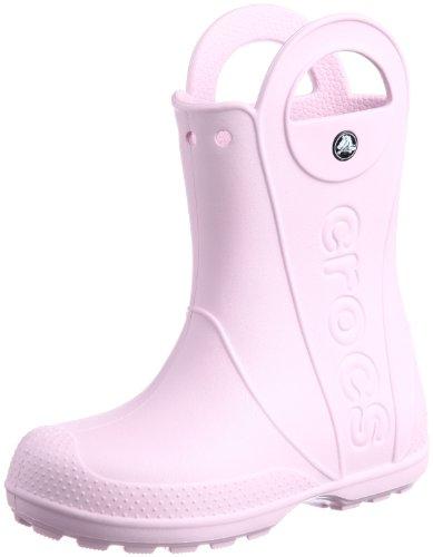 Agua De Botas Handle bubblegum Rain Crocs Unisex Boot Niños Rosa It IwaPYIXCq