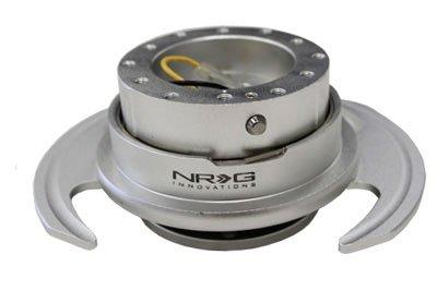 NRG Gen 3.0 Steering Wheel Quick Release Kit Silver Color