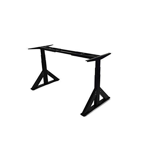 VWINDESK-VJ205-Electric-Height-Adjustable-Sitting-Standing-Desk-Frame-Sit-Stand-Dual-Motors-3-Stages-Motorized-Desk-Base-Only-Black