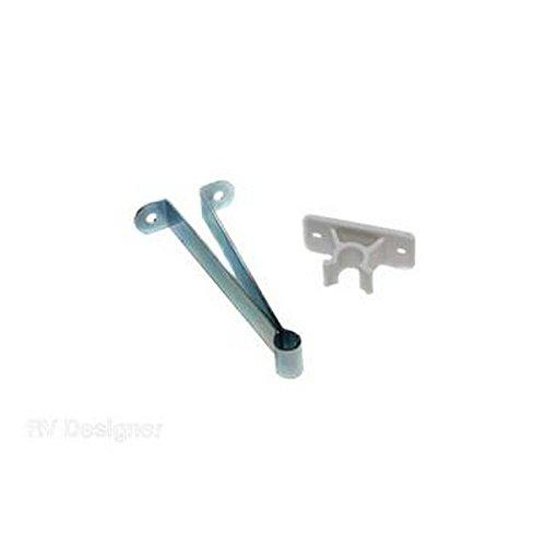 RV Designer RV Trailer Entry Door Holder-Metal 3''Clip Door Catch