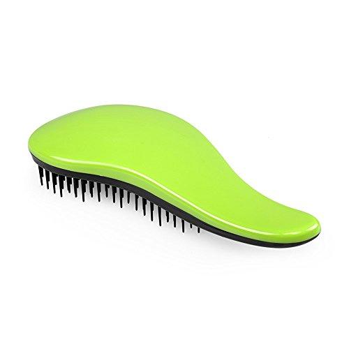 [ELFINA Detangling Hair Brush Detangler Hair Comb---Green] (Wild Curl Black Wig)