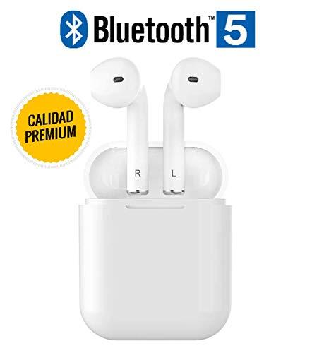 Auriculares INALAMBRICOS Bluetooth 5.0 Alta Gama, Mayor AUTONOMÍA, SIN RETRASO EN Videos, Llamadas