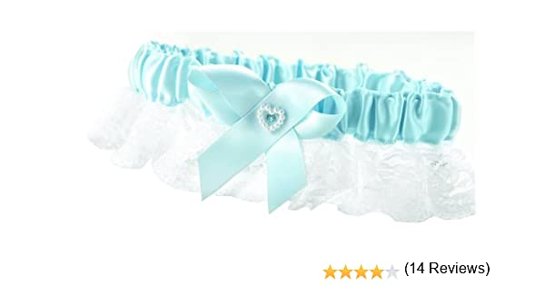 Blue Heart and Rhinestone Hortense B Hewitt Wedding Accessories Garter