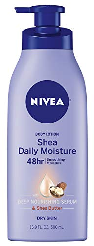 NIVEA Shea Daily Moisture Body Lotion - 48 Hour Moisture For Dry Skin - 16.9 oz. Pump Bottle ()