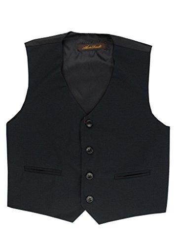 - Alberto Danelli Boy's 4 Button Formal Vest Suit Set, Dark Navy, 10
