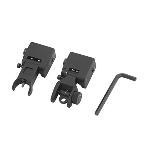 ZXK-02 U Shape Spring Loaded Flip Up Battle Sights Portable Front Rear Back Up Iron Sights Tactical Hunting Accessories