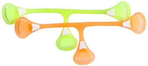 Snappi Cloth Diaper Fastener, Dayglo Yellow Plus Orange, Size 1