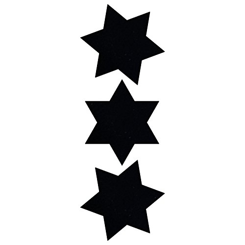 (LiteMark Reflective Black 2 Inch 6 Point Star Sticker Decals for Hard Hats, Helmets, Tool Boxes and More - Pack of 3)