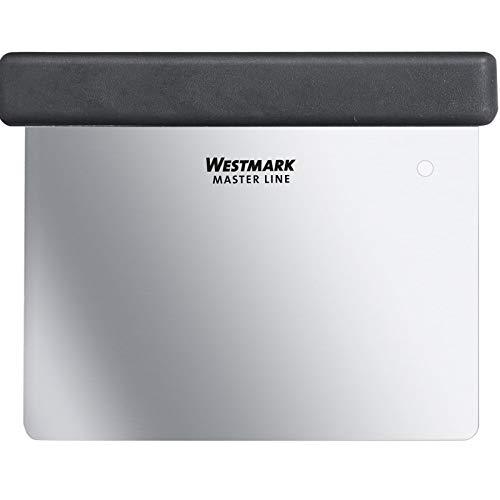 Westmark Professionele deegschraper/spatel, met handvat, lemmet: 8 x 12 cm, roestvrij staal/kunststof, Master Line…
