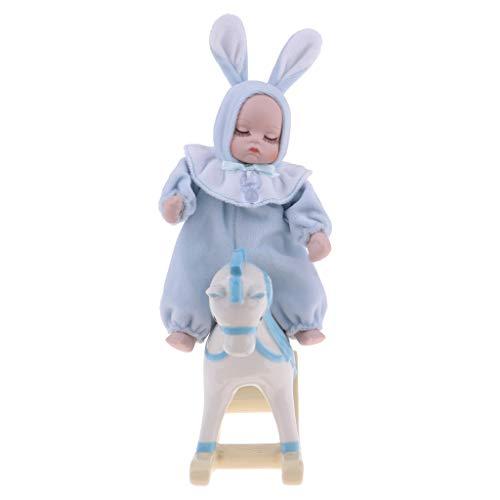 (Prettyia Adorable Musical Porcelain Baby Dolls Plush Little Baby Doll Music Box)