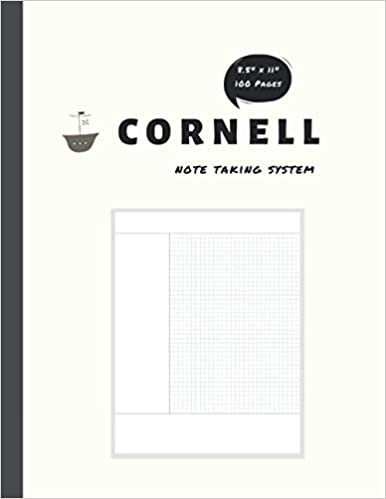 Book's Cover of Cornell Notes: Note-Taking System A4 Notebook with Graph Paper 100 pages, standard notebook paper size | Classic Design - Cream Color (Inglés) Tapa blanda – 7 septiembre 2020