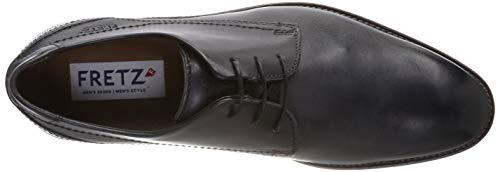 Gris Para Grenoble Hombre Men Cordones Zapatos dark 22 Fretz Grey De Derby q78Y8f