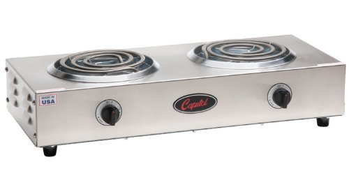 Capitol Range Double Burner Hot Plate  20 W X 3 5 H X 8 3 4 D