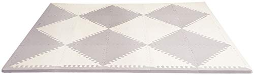 (Skip Hop Playspot Geo Foam Floor Tiles, Grey/Cream by Skip Hop)