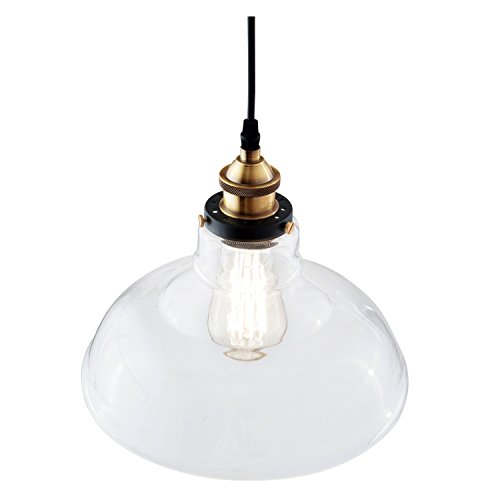 Light Society Classon Edison Pendant Light, Clear Glass Shade with Brushed Bronze Finish, Vintage Modern Industrial Lighting Fixture (LS-C171) by Light Society (Image #2)