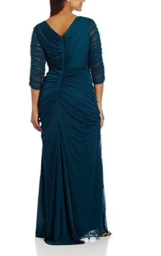 Bride Chellen Women Size Plus Blue Sleeves Dresses of Navy The Mother s Quarter Three HpqvAH