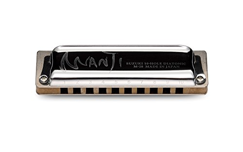 Suzuki M-20-LC Manji Diatonic Harmonica, Key of Low - M20 Keyboard