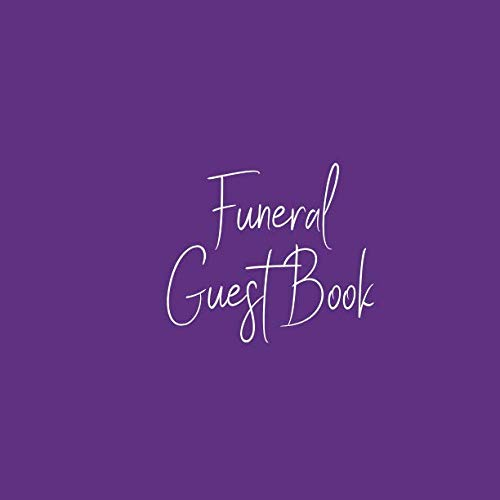 - Funeral Guest Book: Simple Regal Royal Purple White Memorial Service/Celebration Life Remembered Remembrance/Memoriam/Wake/Bereavement/Loving ... Address Line-Thought Message Memories Comment