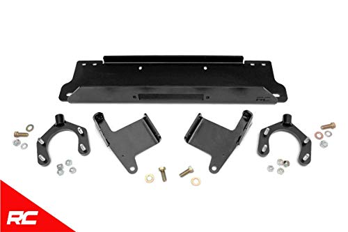 Rough Country Winch Mounting Kit Factory Conversion Compatible w/ 2007-2018 Jeep Wrangler JK 1162