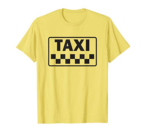 Taxi Costume Halloween T-Shirt Yellow New York Cab -