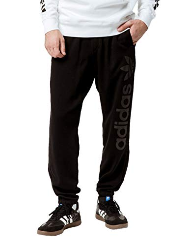 adidas Originals Mens Skateboarding Blackbird Sweatpants, Black, M