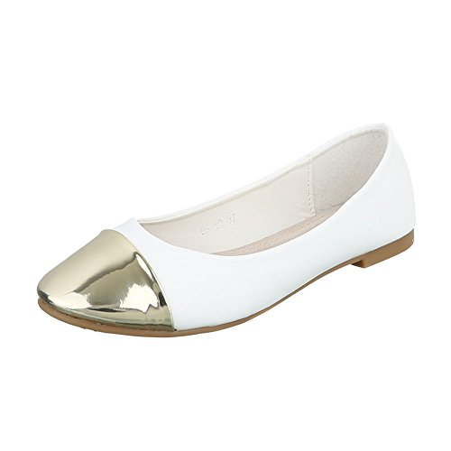 Gold Ital White Women's Closed Design qnPgHA