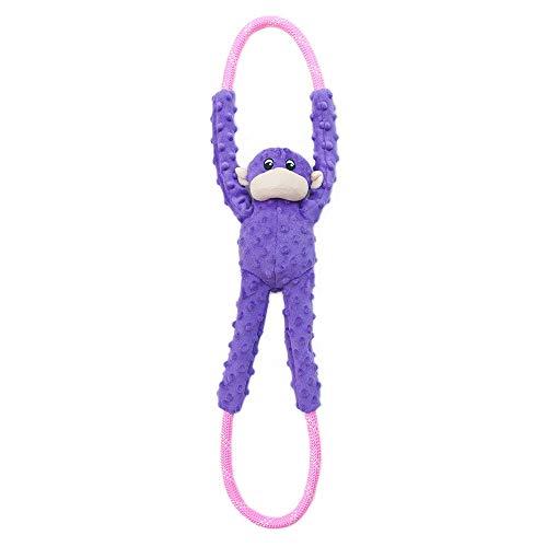 ZippyPaws - Monkey RopeTugz, Squeaky and Plush Rope Tug Dog Toy - - Plush Rope