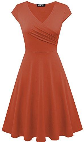 orange a line dress - 8