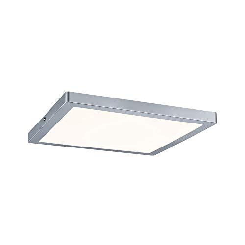 Paulmann Atria iluminación de techo Chrome LED 24 W - Lámpara (Chrome, Plaza, Cepillado, De plástico, Mate, IP20)