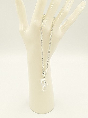 Ladies Cinderella Style Acrylic Clear Slipper Pendant Necklace 18