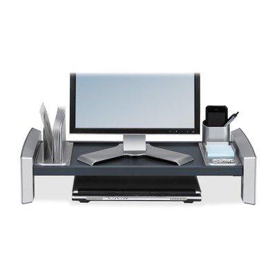 * Flat Panel Workstation Shelf, 11 1/2 x 25 7/8 x 9 1/4, Gray Laminate T by Fellowes