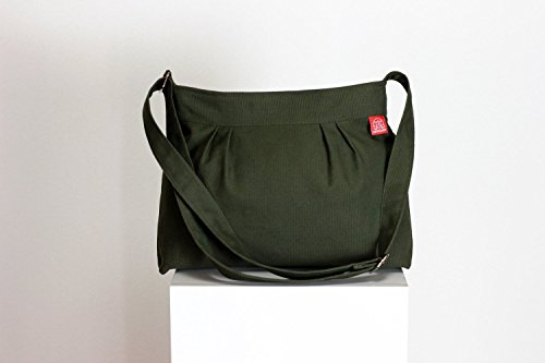 Small & Sweety Purse Washable Durable Canvas Military Green Pleated Shoulder bag Crossbody Bag Women Accessories High quality hippirhino Different Colors are Available by hippirhino
