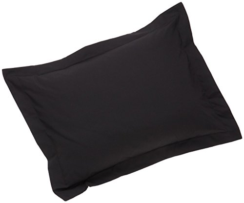 Today's Home Pillow Shams Soft Microfiber Tailored Classic Styling, Standard, Black (2 Pack) Black Standard Sham