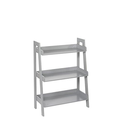 RiverRidge 3-Tier Ladder Shelf for Kids, Gray