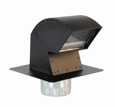 (Imperial Mfg Group Usa VT0640 Roof Vent Cap, Commercial Grade with Damper & Animal Screen, 4-In. - Quantity 3)