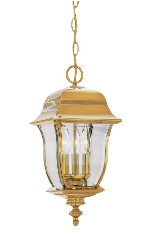Designers Fountain 1554-PVD-PB Gladiator Hanging Lanterns, Brass Treated (Pvd Polish Brass)