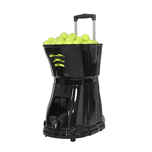 Portable Tennis Ball Serving Machine | Retractable Tie Rod Design, Large Capacity Ball Frame Storage | Programmable Design, Long Range and Powerful | Multiple Training Modes