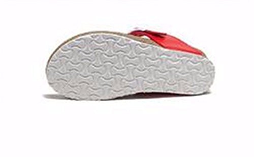 34 Outdoor Europeo Pantofole 34 Ladies' Estate Fondo Code Con BTBTAV Codice Pantofola European Red Piatto Bianco Pelle In zE7PwPq