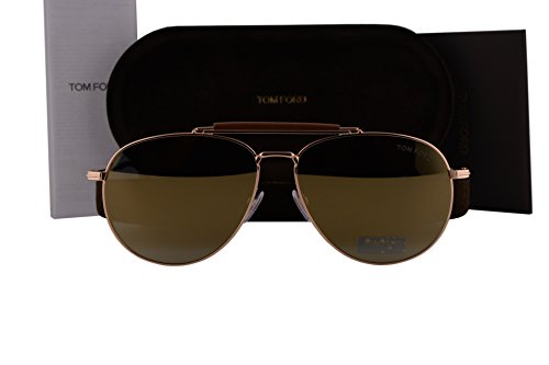 Tom Ford FT0536 Sean Sunglasses Shiny Rose Gold w/Smoke Mirror Lens 28C - James Sunglasses Men Ford Bond Tom