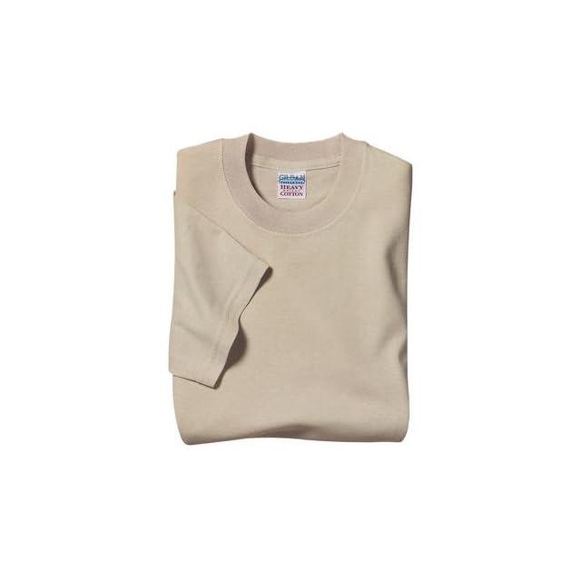Gildan Heavyweight 100% Cotton T Shirt   Sand Color
