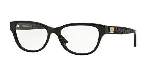 Versace VE3204 Eyeglass Frames GB1-53 - Black by Versace