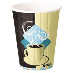 SOLO Cup Company Duo Shield Hot Insulated 12 oz Paper Cups, Beige, 600 Per Carton