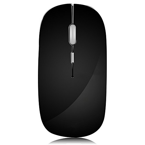 Sonmer Wireless Portable Super Slim Optical Mice with USB Receiver, 3 Adjustable DPI Levels, Compatible with Notebook, PC, Laptop, Computer, MacBook (Gray) ()