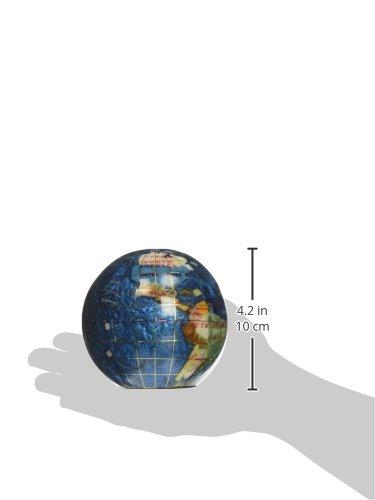 Einzigartige Kunst 10,9 cm (110 mm) mm) mm) Durchmesser Edelstein Globe Briefbeschwerer Papier Gewicht (Bahama Blau Swirl) B072Q99KQ6 | Schöne Farbe  4cc952