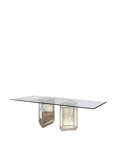 Bassett Mirror Murano Dining Table, Antique Mirror by Bassett Mirror Company