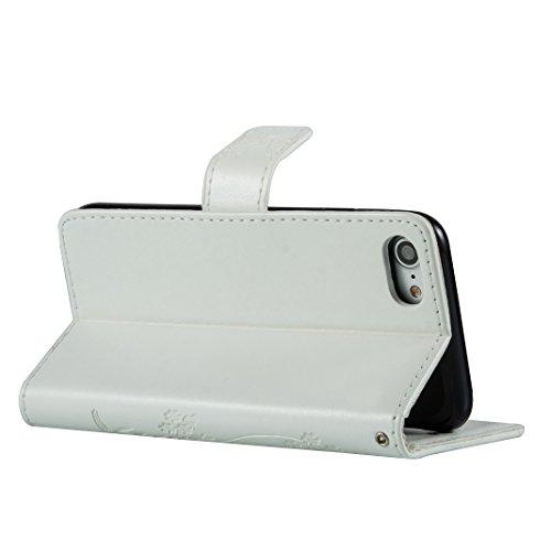iPhone 7 / iPhone 7s Cover Case HuaForCity® Portafogli Custodia in Pelle PU Copertina con Slot per schede Magnetica Flip Chiusura Stile del Libro Supporto Funzione Bumper Caso for iphone 7