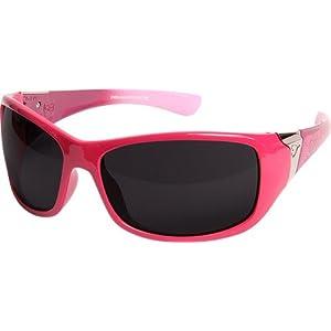 Edge Eyewear Civetta Aurora Series, Pink w/Black Lace, Smoke Lens