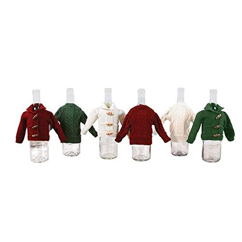 Fall Sweater Bottle Cover - White Button