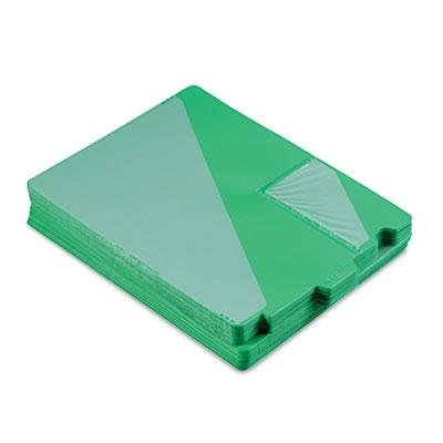 Brand New Smead Out Guides W/Diagonal-Cut Pockets Poly Letter Green 50/Box