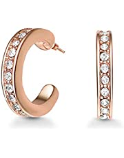 Mestige Women Glass Rose Gold Crescent Cuff Earrings with Swarovski Crystals